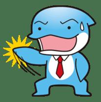 RUKA the bipedal dolphin sticker #64544