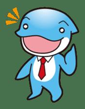 RUKA the bipedal dolphin sticker #64556
