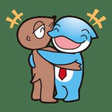 RUKA the bipedal dolphin sticker #64571