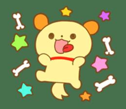 Yellow dog! sticker #65455