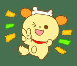 Yellow dog! sticker #65456