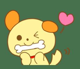 Yellow dog! sticker #65459