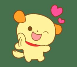 Yellow dog! sticker #65469