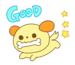 Yellow dog! sticker #65479
