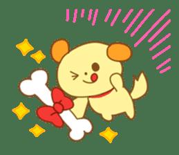 Yellow dog! sticker #65484