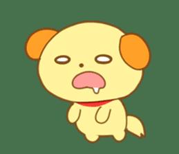 Yellow dog! sticker #65489
