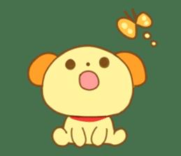 Yellow dog! sticker #65490