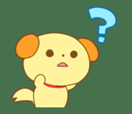 Yellow dog! sticker #65491