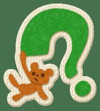 Animal Embroidery sticker #66514