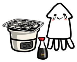 IKAE-SAN - Squid women sticker #66586