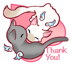 wing&tail(cat) sticker #66837