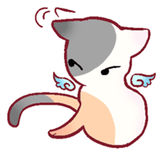 wing&tail(cat) sticker #66838