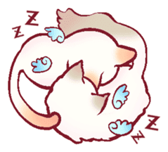 wing&tail(cat) sticker #66843