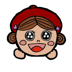 Cute Girls Stamp 1