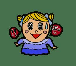 Cute Girls Stamp 1 sticker #68336