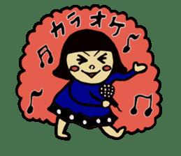 Cute Girls Stamp 1 sticker #68356