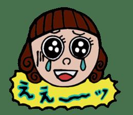 Cute Girls Stamp 1 sticker #68358