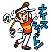 Golfholic sticker #68460