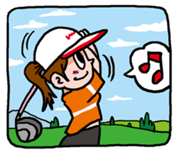 Golfholic sticker #68489