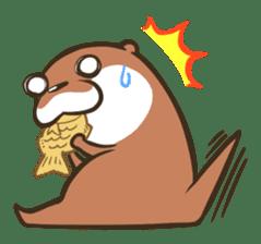 Kotsumetti of Small-clawed otter sticker #68505