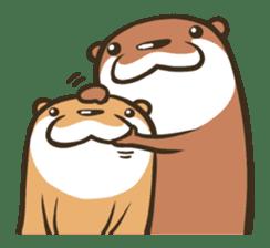 Kotsumetti of Small-clawed otter sticker #68528