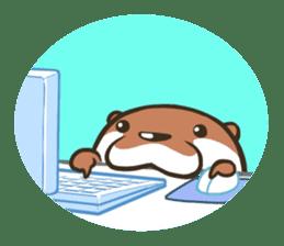 Kotsumetti of Small-clawed otter sticker #68532