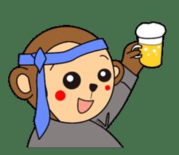 Monkey Akkyun sticker #70976