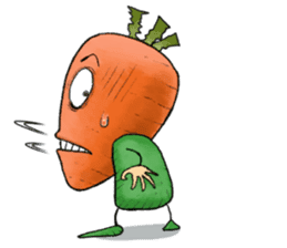 MIX-VEGETABLES - carrot sticker #71142