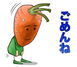 MIX-VEGETABLES - carrot sticker #71155
