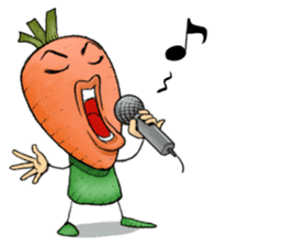 MIX-VEGETABLES - carrot sticker #71181