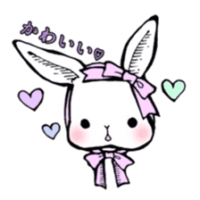 Sweet KAWAII Lolita bunnies sticker #73362