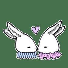 Sweet KAWAII Lolita bunnies sticker #73382
