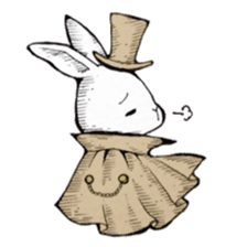 Sweet KAWAII Lolita bunnies sticker #73384