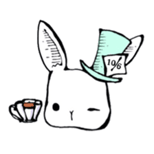 Sweet KAWAII Lolita bunnies sticker #73396