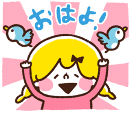 Girl and small animals. by Kanahei sticker #75850