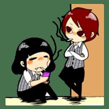 We are office girls! sticker #75885