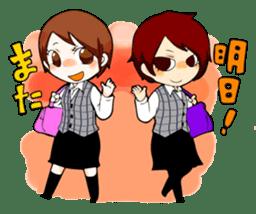 We are office girls! sticker #75890