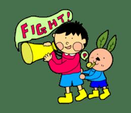 Yu-tan&Leaf rabbit sticker #75935