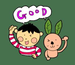 Yu-tan&Leaf rabbit sticker #75937