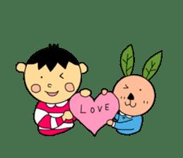 Yu-tan&Leaf rabbit sticker #75938