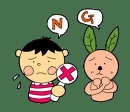 Yu-tan&Leaf rabbit sticker #75939