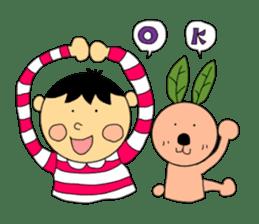 Yu-tan&Leaf rabbit sticker #75940