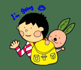 Yu-tan&Leaf rabbit sticker #75942
