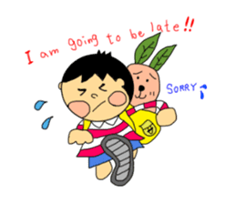 Yu-tan&Leaf rabbit sticker #75943