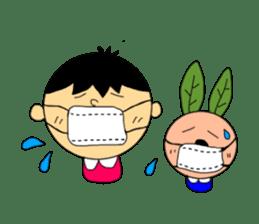 Yu-tan&Leaf rabbit sticker #75945