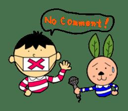 Yu-tan&Leaf rabbit sticker #75950