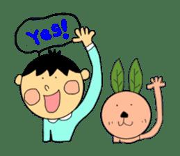 Yu-tan&Leaf rabbit sticker #75951