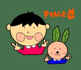 Yu-tan&Leaf rabbit sticker #75955