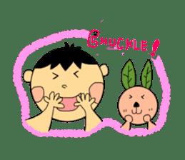 Yu-tan&Leaf rabbit sticker #75956