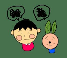 Yu-tan&Leaf rabbit sticker #75957